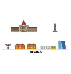 canada regina flat landmarks vector image