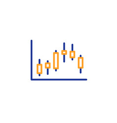candlestick chart line icon financial graph vector image