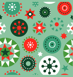 Christmas folk geometric ornament seamless pattern vector