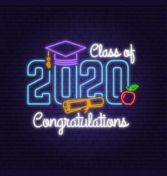 class 202 neon bright signboard light banner vector image