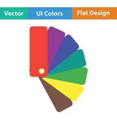 Color samples icon vector image