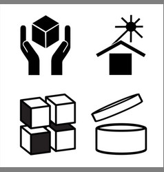 Commodity conventional signs packages vector