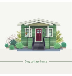 Cozy cottage house vector