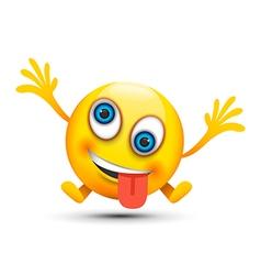 Crazy emoji character vector