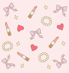 cute pink pastel girly background vector image