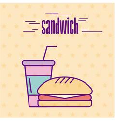 Delicious fast food vector