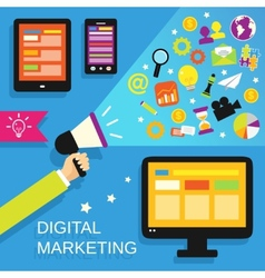 Digital marketing set vector image