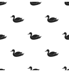 Duck icon in black style isolated on white vector image