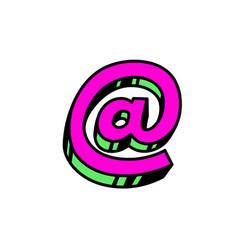 email sign bright red postal symbol bulk forms vector image