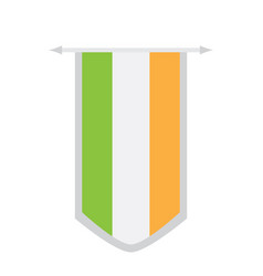 flag of ireland on a banner vector image