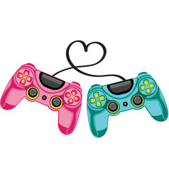 gaming funny positive print colorful joystick vector image