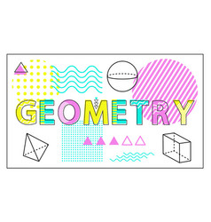 geometry science banner isolated on white backdrop vector image