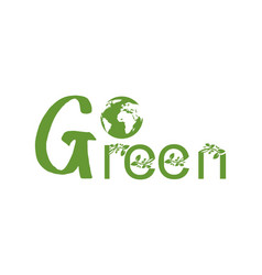 Go green logo vector
