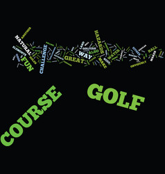 Golf course text background word cloud concept vector