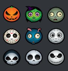 Halloween avatars vector