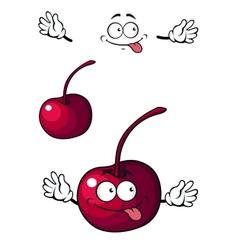 Happy little cherry fruit vector image
