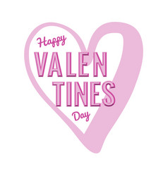 happy valentines day in hearth vector image