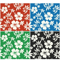 Hibiscus flower seamless fabric textile vector