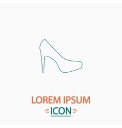 High heels computer symbol vector
