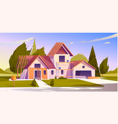 House construction site vector