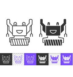 Humanoid simple black line icon vector