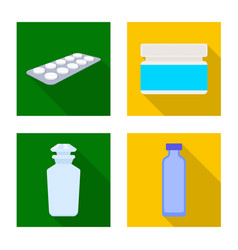isolated object of hospital and help sign vector image