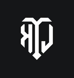 Kl logo monogram design template vector
