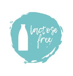 Lactose free label food intolerance symbol vector