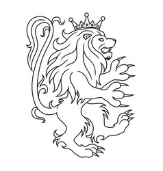 lion in a crown vector image
