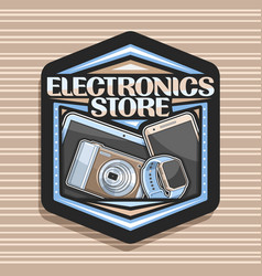 Logo for electronics store vector