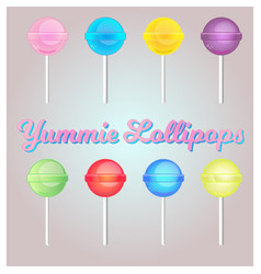 Lollipop set vector