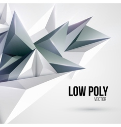 Low poly triangular background vector