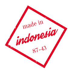 made in indonesia rubber stamp vector image vector image