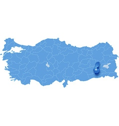 Map of Turkey Batman vector