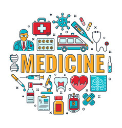 Medicine and healthcare banner vector