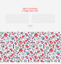 merry christmas celebration concept vector image