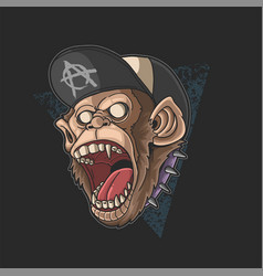 Monkey screaming young spirit vector