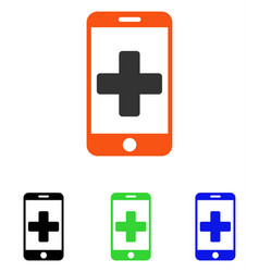 Online medical help flat icon vector