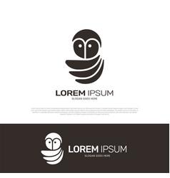 owl logo icon design vector image