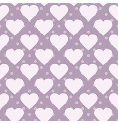 Polka-dot hearts vector