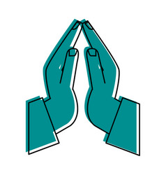 Praying hands icon image vector