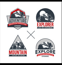 professional mountain logo collection vector image