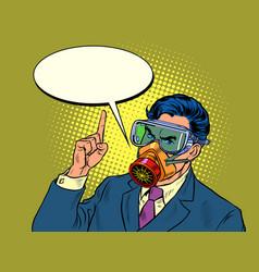 Quarantine epidemic a politician or businessman vector