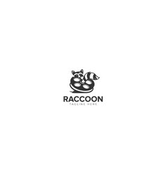 Raccoon film industry logo vector