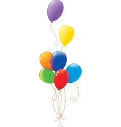 Rainbow baloons vector