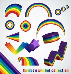 Rainbow symbol set vector image