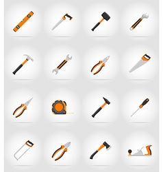 repair tools flat icons 17 vector image