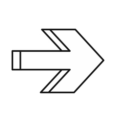 Right arrow icon outline style vector image