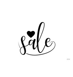 sale typography text with love heart vector image
