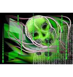 scary technology vector image